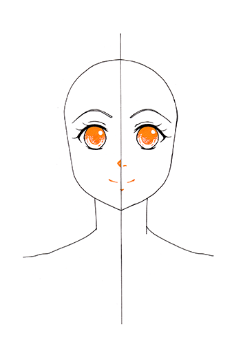 Manga Gesicht Tutorial Step 7